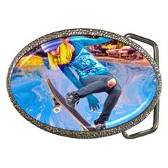Skateboarding On Water Belt Buckles by icarusismartdesigns