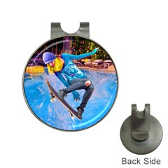 Skateboarding On Water Hat Clips With Golf Markers by icarusismartdesigns