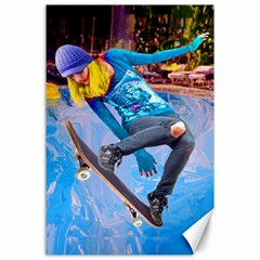 Skateboarding On Water Canvas 24  X 36  by icarusismartdesigns
