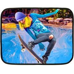 Skateboarding On Water Fleece Blanket (mini) by icarusismartdesigns