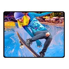 Skateboarding On Water Fleece Blanket (small) by icarusismartdesigns