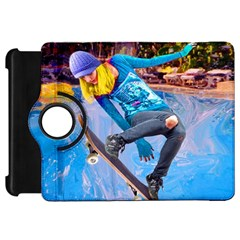 Skateboarding On Water Kindle Fire Hd Flip 360 Case by icarusismartdesigns