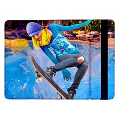 Skateboarding On Water Samsung Galaxy Tab Pro 12 2  Flip Case by icarusismartdesigns