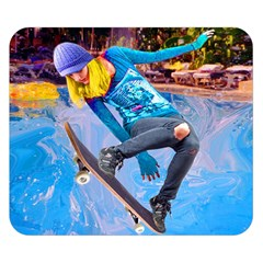 Skateboarding On Water Double Sided Flano Blanket (small)  by icarusismartdesigns