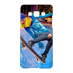 Skateboarding On Water Samsung Galaxy A5 Hardshell Case  by icarusismartdesigns