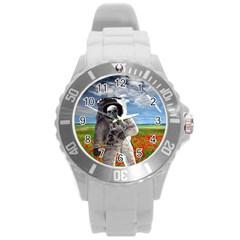 Exodus Round Plastic Sport Watch (l) by icarusismartdesigns