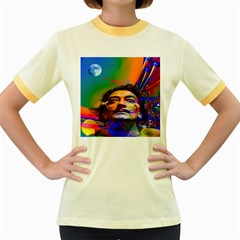 Dream Of Salvador Dali Women s Fitted Ringer T Shirts by icarusismartdesigns