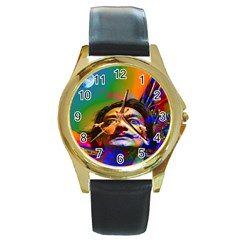 Dream Of Salvador Dali Round Gold Metal Watches by icarusismartdesigns