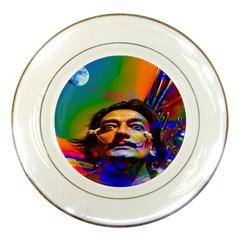 Dream Of Salvador Dali Porcelain Plates by icarusismartdesigns