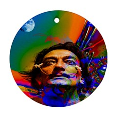 Dream Of Salvador Dali Round Ornament (two Sides)  by icarusismartdesigns