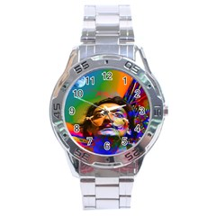 Dream Of Salvador Dali Stainless Steel Men s Watch by icarusismartdesigns