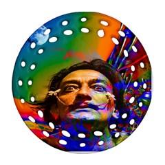 Dream Of Salvador Dali Round Filigree Ornament (2side) by icarusismartdesigns