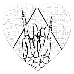 Skull Rock Jigsaw Puzzle (heart) by stoner