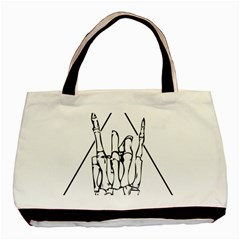 Skull Rock Basic Tote Bag (two Sides)  by stoner