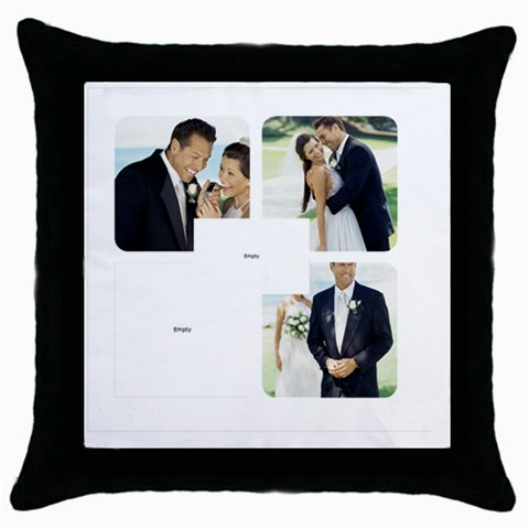 Wedding By Wedding   Throw Pillow Case (black)   Eexh4b23hqgz   Www Artscow Com Front