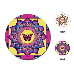 Butterfly Mandala Playing Cards (round)