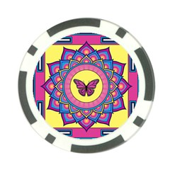 Butterfly Mandala Poker Chip Card Guards by GalacticMantra