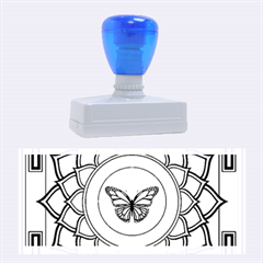 Butterfly Mandala Rubber Stamps (large) by GalacticMantra