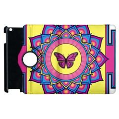 Butterfly Mandala Apple Ipad 2 Flip 360 Case by GalacticMantra