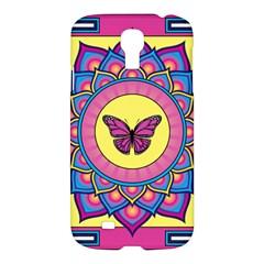 Butterfly Mandala Samsung Galaxy S4 I9500/i9505 Hardshell Case by GalacticMantra