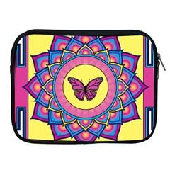 Butterfly Mandala Apple Ipad 2/3/4 Zipper Cases by GalacticMantra