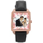 wedding - Rose Gold Leather Watch