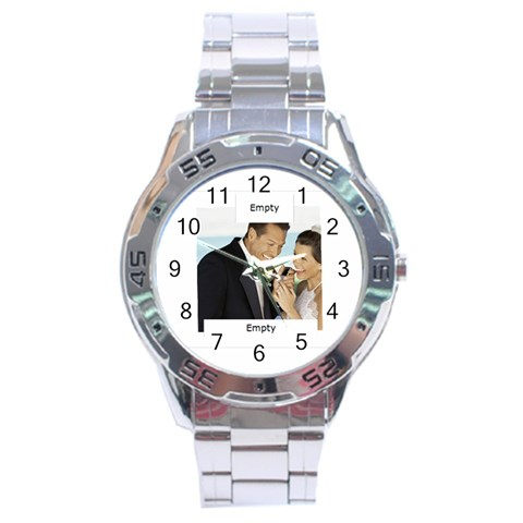 Wedding By Wedding   Stainless Steel Analogue Watch   W47fq6yqr93j   Www Artscow Com Front
