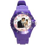 wedding - Round Plastic Sport Watch (L)