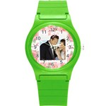 wedding - Round Plastic Sport Watch (S)