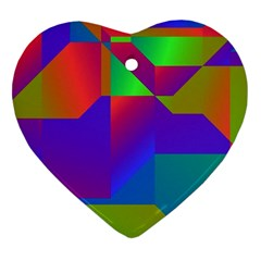 Colorful Gradient Shapes Ornament (heart) by LalyLauraFLM