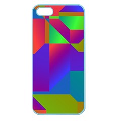 Colorful Gradient Shapes Apple Seamless Iphone 5 Case (color) by LalyLauraFLM