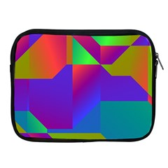 Colorful Gradient Shapes Apple Ipad 2/3/4 Zipper Case by LalyLauraFLM