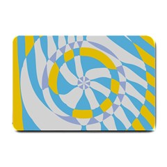 Abstract Flower In Concentric Circles Small Doormat by LalyLauraFLM
