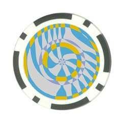 Abstract Flower In Concentric Circles Poker Chip Card Guard (10 Pack) by LalyLauraFLM