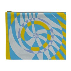 Abstract Flower In Concentric Circles Cosmetic Bag (xl) by LalyLauraFLM
