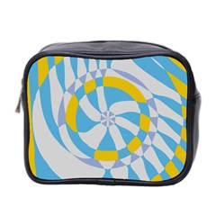 Abstract Flower In Concentric Circles Mini Toiletries Bag (two Sides) by LalyLauraFLM