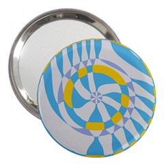 Abstract Flower In Concentric Circles 3  Handbag Mirror by LalyLauraFLM
