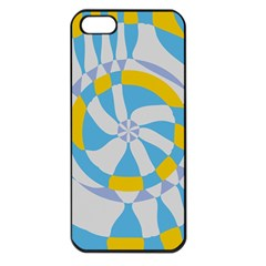 Abstract Flower In Concentric Circles Apple Iphone 5 Seamless Case (black) by LalyLauraFLM