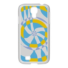 Abstract Flower In Concentric Circles Samsung Galaxy S4 I9500/ I9505 Case (white) by LalyLauraFLM