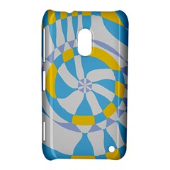Abstract Flower In Concentric Circles Nokia Lumia 620 Hardshell Case by LalyLauraFLM