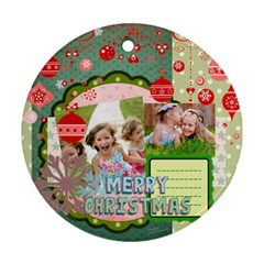 Xmas By Xmas   Round Ornament (two Sides)   9n9sflhxrmv2   Www Artscow Com Front