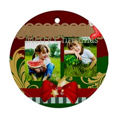 Xmas By Xmas   Round Ornament (two Sides)   Rtqq4mdpj117   Www Artscow Com Front