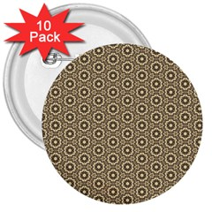 Cute Pretty Elegant Pattern 3  Buttons (10 Pack)  by creativemom