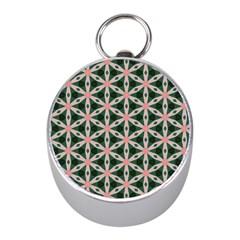 Cute Pretty Elegant Pattern Mini Silver Compasses by creativemom