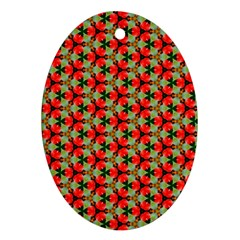Lovely Trendy Pattern Background Pattern Oval Ornament (two Sides) by creativemom