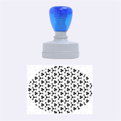 Lovely Trendy Pattern Background Pattern Rubber Oval Stamps by creativemom