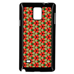 Lovely Trendy Pattern Background Pattern Samsung Galaxy Note 4 Case (black) by creativemom