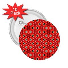 Lovely Orange Trendy Pattern  2 25  Buttons (10 Pack)  by creativemom