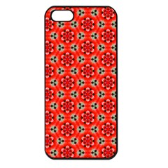 Lovely Orange Trendy Pattern  Apple Iphone 5 Seamless Case (black) by creativemom