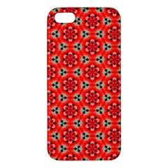 Lovely Orange Trendy Pattern  Iphone 5s Premium Hardshell Case by creativemom